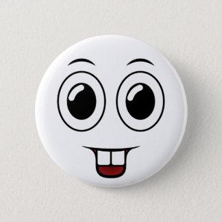 Badge Rond 5 Cm Sourire de dent de mâle