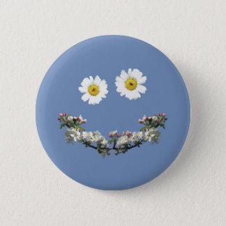 Badge Rond 5 Cm Sourire floral