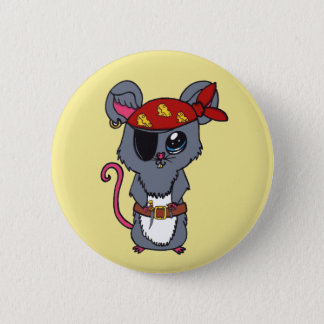 Badge Rond 5 Cm Souris de pirate