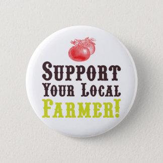 Badge Rond 5 Cm Soutenez votre agriculteur local ! Bouton