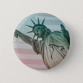 Badge Rond 5 Cm Statue de la liberté