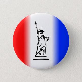 Badge Rond 5 Cm Statue de la liberté New York