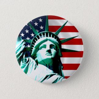 Badge Rond 5 Cm Statue de la liberté, New York