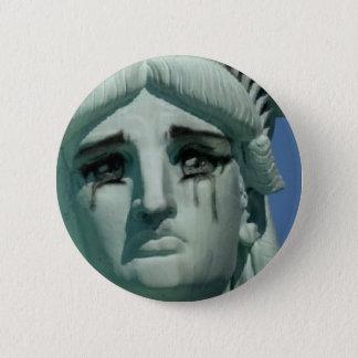 Badge Rond 5 Cm Statue de la liberté pleurante