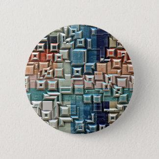 Badge Rond 5 Cm structure 3D métallique