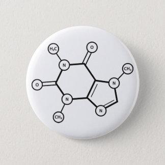 Badge Rond 5 Cm structure moléculaire de caféine