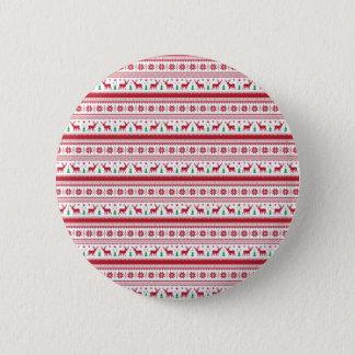 Badge Rond 5 Cm Style de Noël de la Norvège