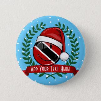 Badge Rond 5 Cm Style gai de Noël de drapeau du Trinidad