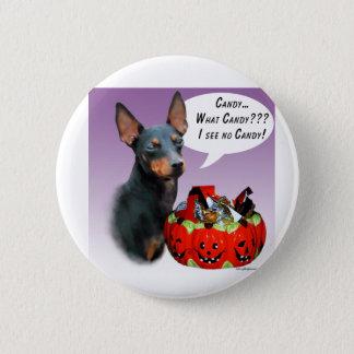 Badge Rond 5 Cm Sucrerie de Manchester Terrier Halloween