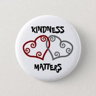 Badge Rond 5 Cm Sujets enlacés de gentillesse de coeurs