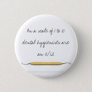 Badge Rond 5 Cm Sur une échelle de 1 aux hygiénistes 10dental…