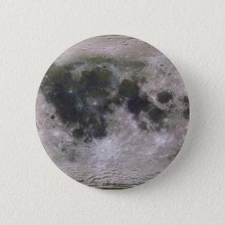 Badge Rond 5 Cm Surface topographique de la lune de la terre
