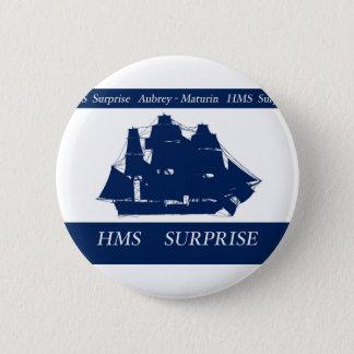 Badge Rond 5 Cm surprise de hms, fernandes élégants