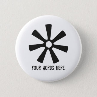 Badge Rond 5 Cm Symbole d'ANANSE NTONTAN | de la sagesse,