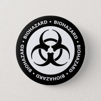 Badge Rond 5 Cm Symbole de Biohazard