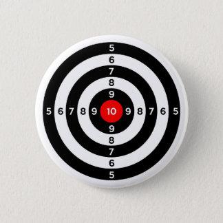 Badge Rond 5 Cm symbole de cible d'oeil de taureaux de champ de
