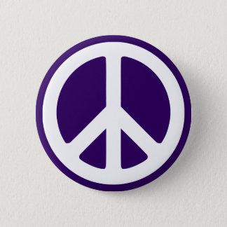 Badge Rond 5 Cm Symbole de paix blanc sur le pourpre foncé