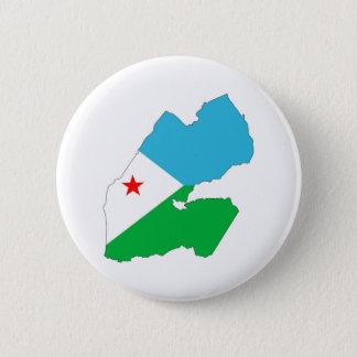 Badge Rond 5 Cm symbole de silhouette de forme de carte de drapeau