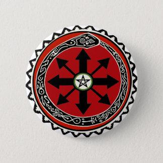 Badge Rond 5 Cm Symbole de sorcellerie pour le chaos
