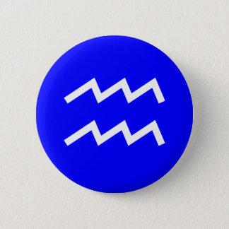 Badge Rond 5 Cm Symbole de Verseau - customisé