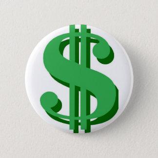 Badge Rond 5 Cm symbole dollar de $