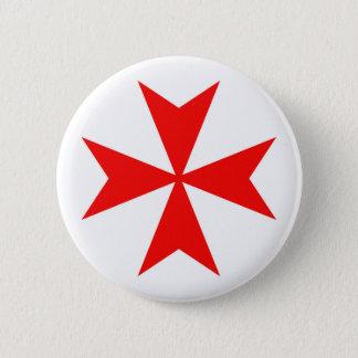 Badge Rond 5 Cm symbole templar de religion de Croix-Rouge de