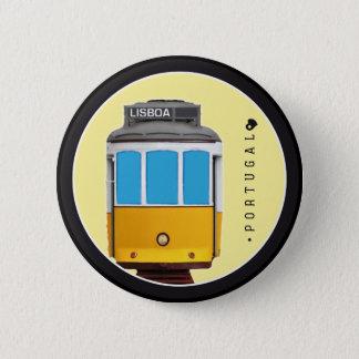 Badge Rond 5 Cm Symboles de tramway du Portugal - de Lisbonne