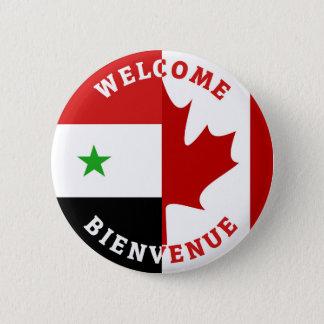 Badge Rond 5 Cm Syriennes bienvenues de Bienvenue