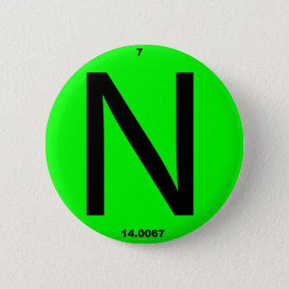Badge Rond 5 Cm Table périodique de la lettre N