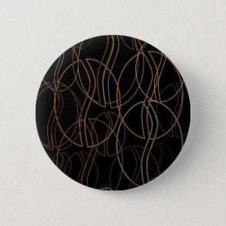 Badge Rond 5 Cm tache floue de grain de café