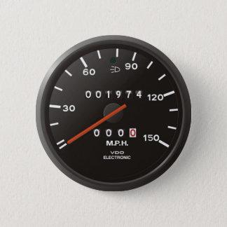 Badge Rond 5 Cm Tachymètre du classique 911 (vieille voiture à