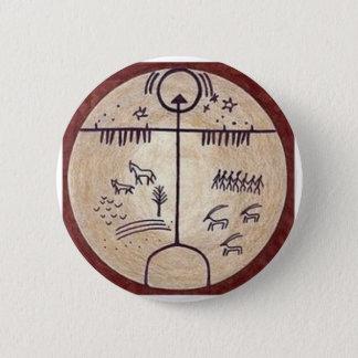 Badge Rond 5 Cm Tambour de chaman de Turkic