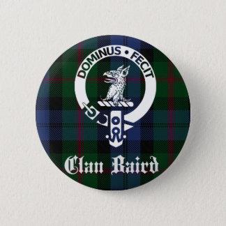 Badge Rond 5 Cm Tartan de crête de Baird de clan