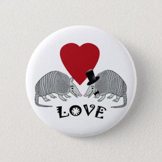Badge Rond 5 Cm Tatous dans des boutons d'amour