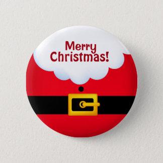 Badge Rond 5 Cm Team la norme de Père Noël, bouton rond de pouce