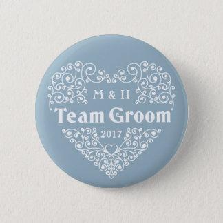 Badge Rond 5 Cm Team les monogrammes de marié et les boutons faits
