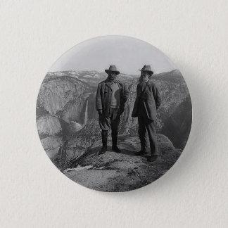 Badge Rond 5 Cm Teddy Roosevelt et John Muir dans Yosemite