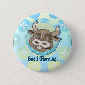 Badge Rond 5 Cm Tête animale de vache à style de wagon-restaurant