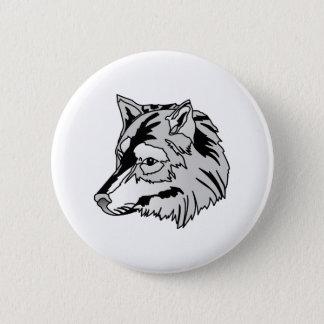 Badge Rond 5 Cm Tête de loup