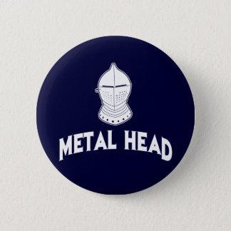 Badge Rond 5 Cm Tête en métal