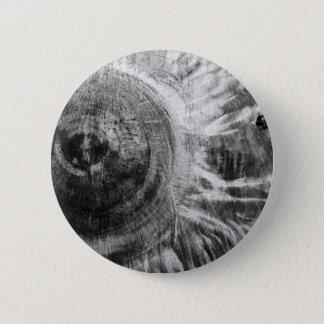 Badge Rond 5 Cm Texture en bois noire et blanche