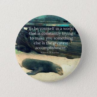 Badge Rond 5 Cm Thème de inspiration de plage de citation de la