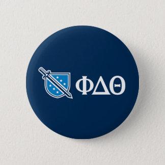 Badge Rond 5 Cm Thêta de delta de phi - Grec blanc Lettters et
