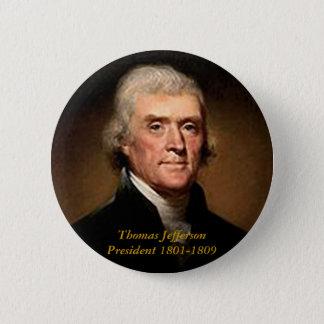 Badge Rond 5 Cm Thomas Jefferson - bouton