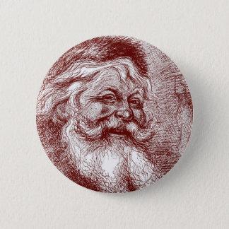 Badge Rond 5 Cm Thomas Nast le père noël