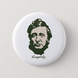 Badge Rond 5 Cm Thoreau - simplifiez
