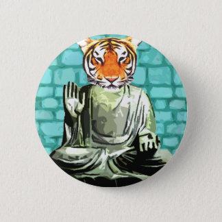 Badge Rond 5 Cm Tigre de zen