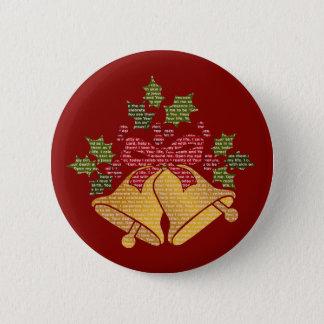 Badge Rond 5 Cm Tintements du carillon et houx pour la prière de