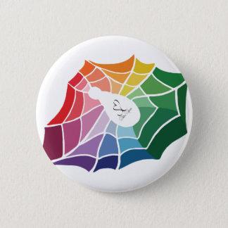 Badge Rond 5 Cm Toile d'araignée de roue de couleur