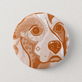 Badge Rond 5 Cm Tons de Brown de beagle